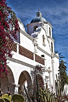 Mission San Luis Rey Photograph - Old Mission San Luis Rey - California by Jon Berghoff