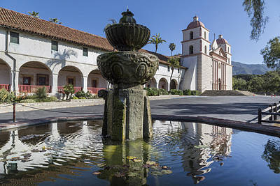 Photograph - Old Mission Santa Barbara In Santa Barbara by Carol M Highsmith