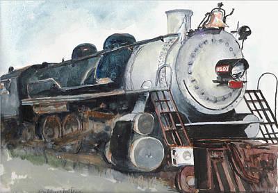 Old Mississippi Central Engine  Art Print