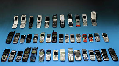 Old Mobile Phones Art Print