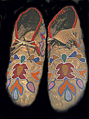 Photograph - Old Moccasins by Ian  MacDonald