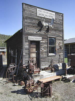 Miners Ghost Photograph - Old Molson Ghost Town Assay Office by Daniel Hagerman