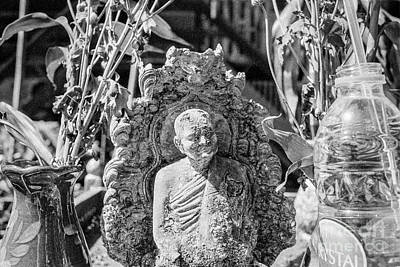 Photograph - Old Monk Statue 2 by Dean Harte
