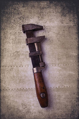 Photograph - Old Monkey Wrench by Garry Gay