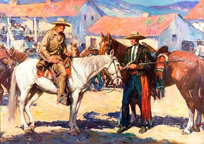 Mexican Town Painting - Old Monterey - Alta California by Pg Reproductions