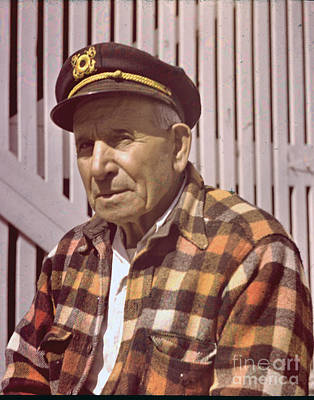 Photograph - Old Monterey Fisherman Circa 1955 by California Views Archives Mr Pat Hathaway Archives