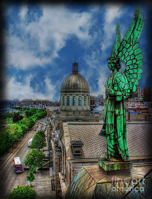 Old Montreal Photograph - Old Montreal Angel by Lee Dos Santos