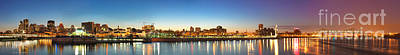 Old Montreal Photograph - Old Montreal By Night Panorama  by Laurent Lucuix