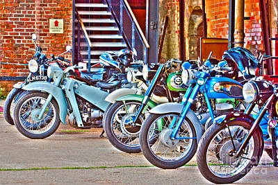 Photograph - Old Motorbikes Hdr by Terri Waters