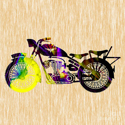 Old Motorcycle Print by Marvin Blaine