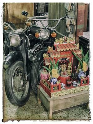 Old Motorcycles East Of Bangkok Art Print by River Engel