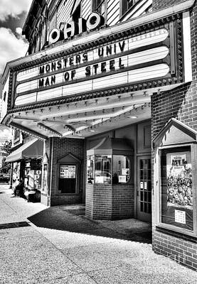 Photograph - Old Movie Theater Bw by Mel Steinhauer