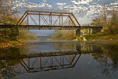 Vintage River Scenes Photograph - Old Murphy Railroad Trestle by Debra and Dave Vanderlaan
