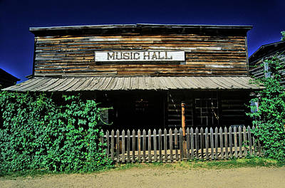 State Of Montana Photograph - Old Music Hall In Ghost Town by Panoramic Images