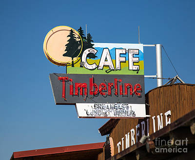 Old Neon Sign In West Yellowstone Art Print
