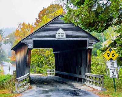 Photograph - Old New Hampshire Bridge by Shey Stitt