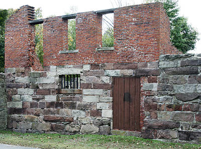 Old Newgate Prison Wall - East Granby Connecticut Print by Brendan Reals