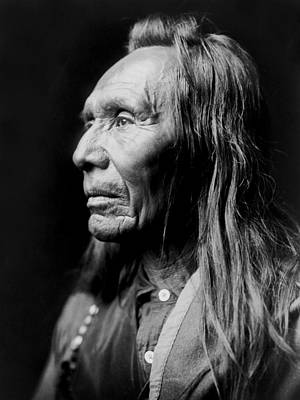 Photograph - Old Nez Perce Man Circa 1910 by Aged Pixel
