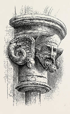Tr Drawing - Old Norse Capital, The Screen by Norwegian School