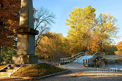 Concord Ma Photograph - Old North Bridge by Brian Jannsen