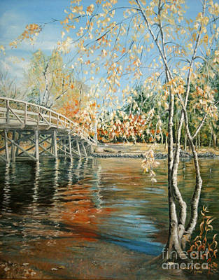 Old North Bridge Painting - Old North Bridge Concord by Wendy Griffiths