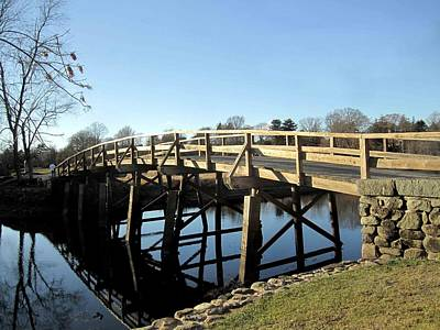 Concord Mass Photograph - Old North Bridge by John Swencki