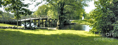 Concord Massachusetts Digital Art - Old North Bridge by Nigel Fletcher-Jones