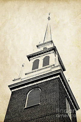 Real-estate Photograph - Old North Church In Boston by Elena Elisseeva