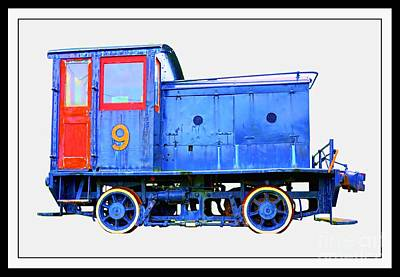 Factory Photograph - Old Number 9 - Small Locomotive by Edward Fielding