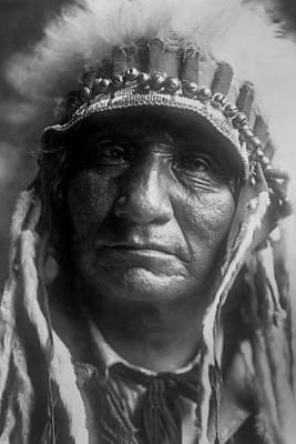 Wall Art - Photograph - Old Oglala Man Circa 1907 by Aged Pixel