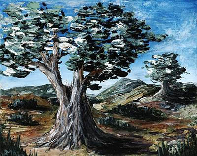 Acrylic Painting - Old Olive Tree by Anastasiya Malakhova