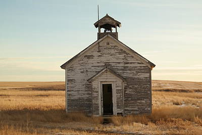 School Houses Photograph - Old One Room Schoolhouse by Jeff Swan