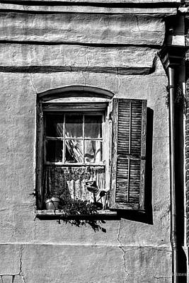 Photograph - Old One Shutter - Bw by Christopher Holmes