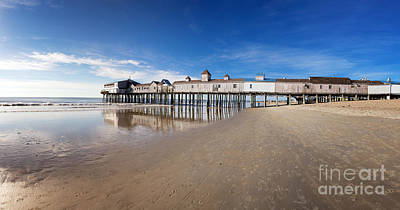 Old Orchard Beach Panorama Art Print by Jane Rix