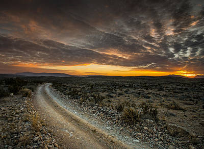 Old Ore Road Sunset Art Print by Allen Biedrzycki