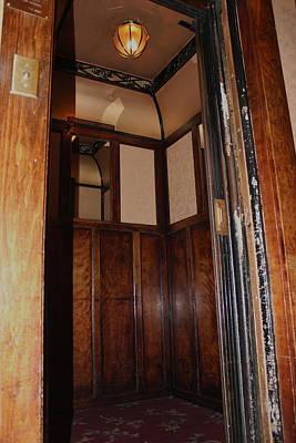 Photograph - Old Otis Elevator by Trent Mallett