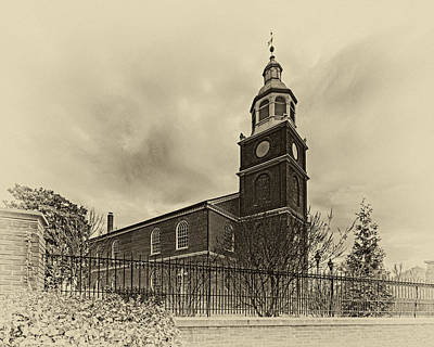 Vermeer Rights Managed Images - Old Otterbein Church Olde Tyme Photo Royalty-Free Image by Bill Swartwout Photography