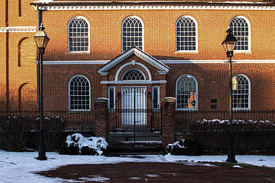 Photograph - Old Otterbein Umc W Conway Entrance by Bill Swartwout Fine Art Photography