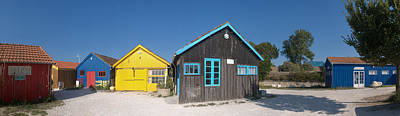 Shack Photograph - Old Oyster Farmers Shacks, Le Chateau by Panoramic Images