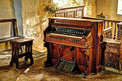 Celynnin Photograph - Old Packard Organ by Mal Bray