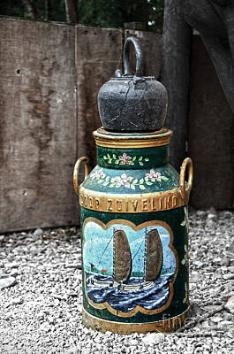 Photograph - Old Painted Milk Can by RicardMN Photography