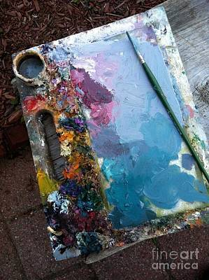 Lamdscape Photograph - Old Painters Palette by Barbara Chase