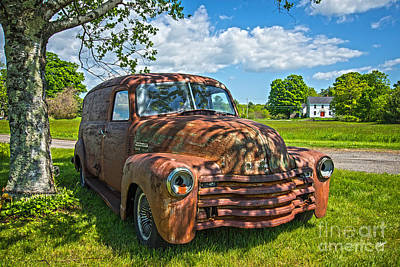 Photograph - Old Panel Truck by Alana Ranney