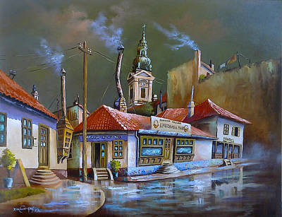 Painting - old part in Belgrade by Dragan Ivkovic