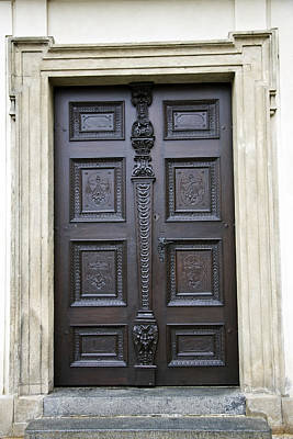Medieval Entrance Digital Art - Old Pattern Door by IB Photo