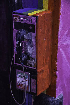 Vandalize Photograph - Old Pay Phone by Garry Gay