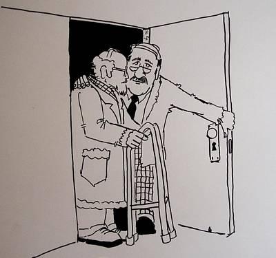 Old People Cartoon Art Print