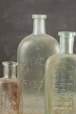 Photograph - Old Pharmacy Bottle by Juli Scalzi