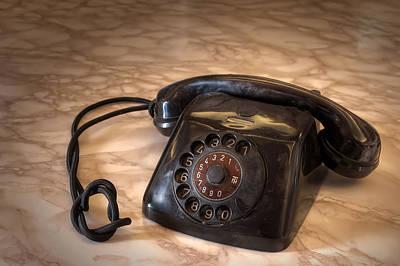 Old Phone Art Print by Leonardo Marangi
