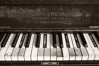 Keyboards Photograph - Old Piano Keys by Jim Hughes